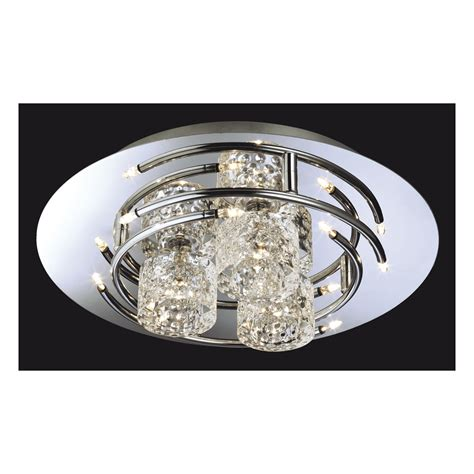 Flush Fitting Ceiling Lights Uk 8256ch Titan Flush Fitting In Chrome With Moulded Clear Glass