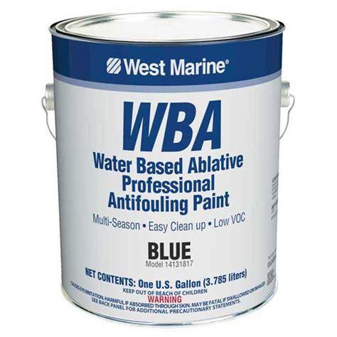 west boat bottom paint west marine wba dual biocide water based ablative