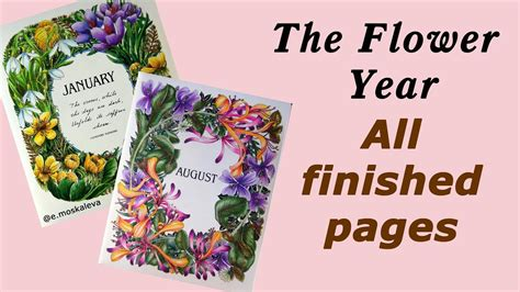 the flower year a coloring book the flower year all finished pages on fileflower coloring pages printable book for