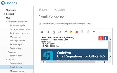 Office 365 Outlook Web App Signature Office 365 Outlook Web App Signature 28 Images How To