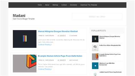 blogs templates madani open source templates deviar template
