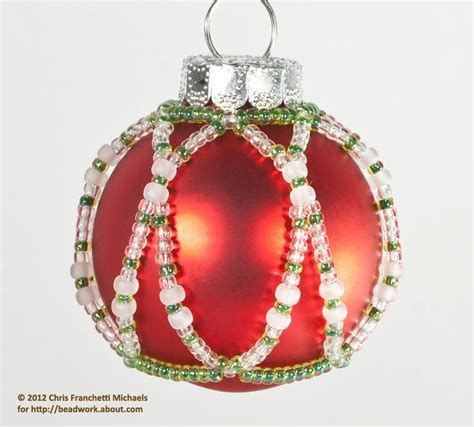 free beaded ornament cover patterns small beaded ornament cover pattern