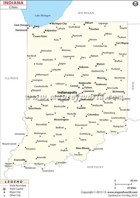 map with all cities and towns cities in indiana map of indiana cities