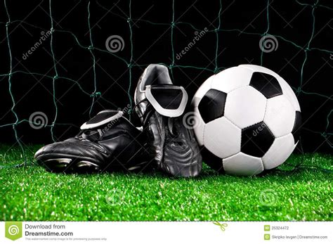 balls football shoes soccer and cleats stock photography image 25324472