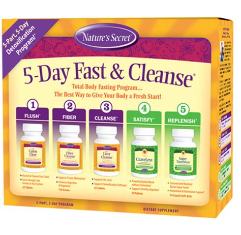 5 Day Detox Cleanse Pills by 5 Day Fast And Cleanse Nature S Secret Natures Secret
