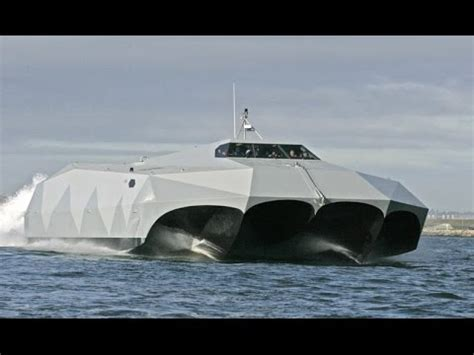 boat vs ship us navy super fast us navy m80 stiletto stealth ship youtube