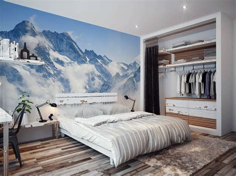 bedroom wall mural ideas nature inspired eye deceiving wall murals to make your