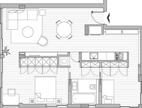small apartment building plans ver el plano de un lindo departamento de 59 m2