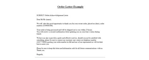 Purchase Order Regret Letter Sle Business Letter Sle Order 28 Images Secretarial