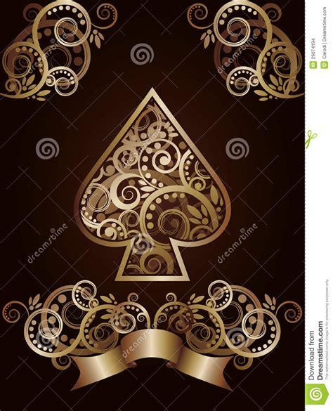 spade ace poker playing cards stock images image 29074194