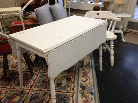 white painted drop leaf kitchen table simply vintage of