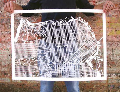 san francisco map paper cut paper map of san francisco boing boing