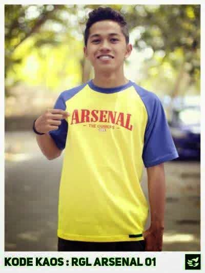 Kaos Distro Arsenal kaos distro bola raglan arsenal 01 kaos distro bola