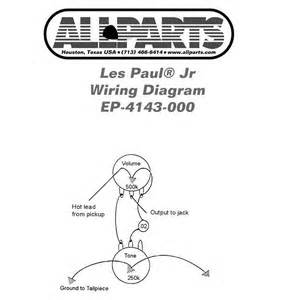 ep 4143 000 wiring kit for gibson les paul sg jr allparts