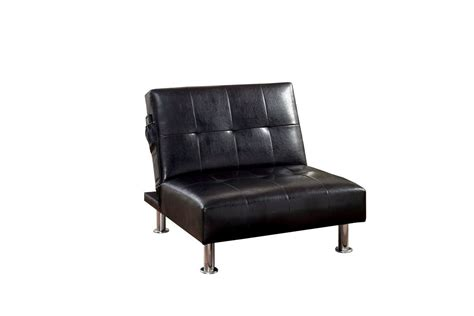 Castins Biscuit Tufted Leatherette Convertible Chair Convertible Ottoman Chair