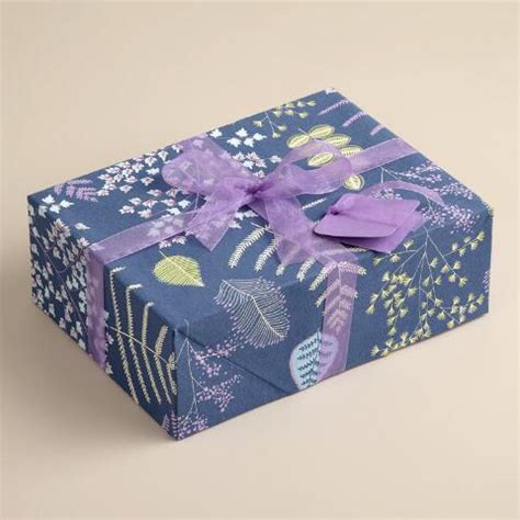purple lakeside leaves fabric gift box kit world market