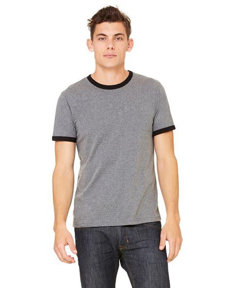 Tshirt Kaos Adidas Grey jersey sleeve ringer t shirt