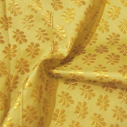 yellow leaf pattern fabric buy yellow and golden leaf pattern brocade silk fabric 8016