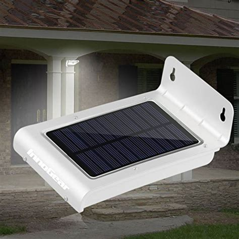Fence Post Lights Outdoor 174 24 Led Waterproof Solar Powered Fence Post Light Motion Sensor Outdoor Ebay