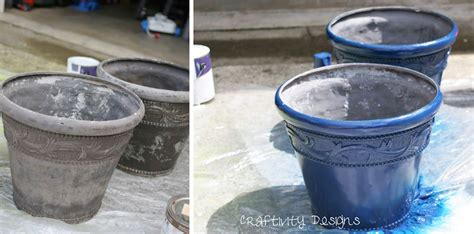 Spray Paint Plastic Planters by Craftivity Designs Painted Herb Planters Some Tips