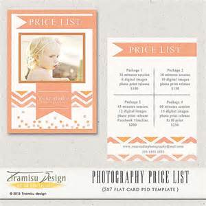 Free Photography Pricing Guide Template by Photography Price List Photography Pricing By Tiramisudesign