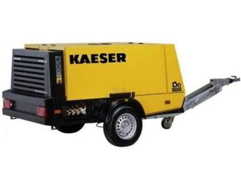kaeser portable air compressor  cfm  psi diesel tow