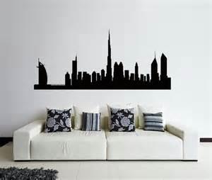 Skyline Home Decor Dubai Wall Decal Dubai Skyline Wall Decal Cities By Remakeproject
