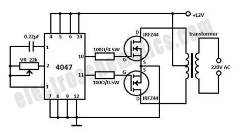 6v to 220v inverter circuit diagram dc to ac inverter 12v to 220v inverter