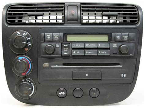 honda civic   factory stereo amfm single disc