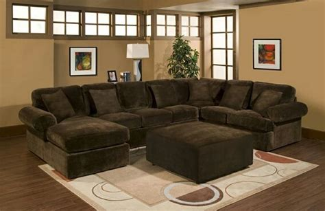 3 pc bradley sectional sofa with chocolate plush velour