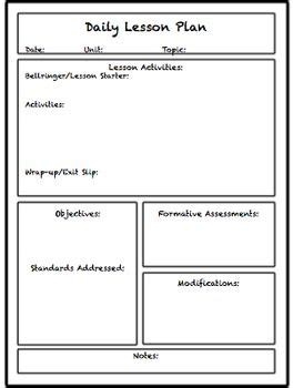 lesson plan template unisa lesson unit plan templates for middle or high school