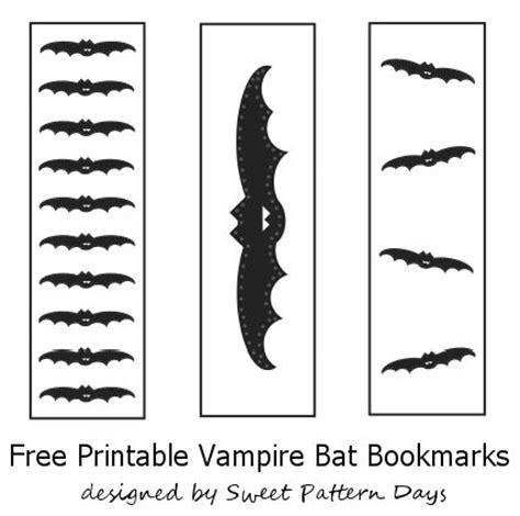 Printable Bat Bookmarks | cute vire bat bookmarks to print halloween printables