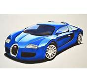 Dibujando Carros Deportivos C&243mo Dibujar Un Bugatti Con Colores