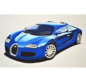 How To Draw A Bugatti With Colors  Super