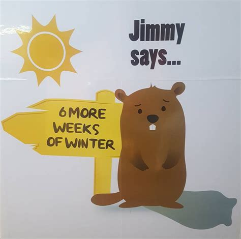 groundhog day jimmy jimmy sees shadow on groundhog day 6 more weeks of winter