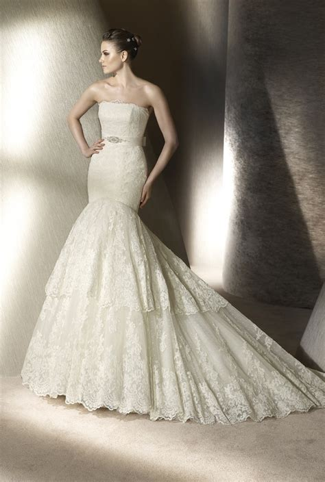 lace mermaid wedding dress lace mermaid wedding dress by san patrick 2012 onewed com