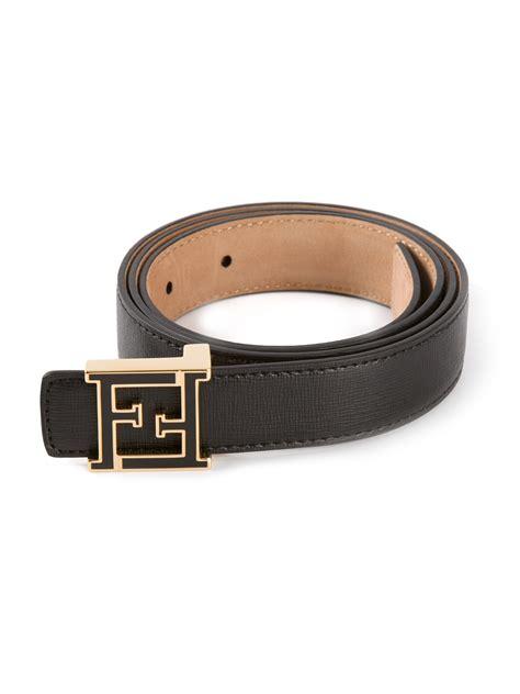 Trendy Fendi Gold Belt by Fendi Branded Buckle Belt In Black Lyst
