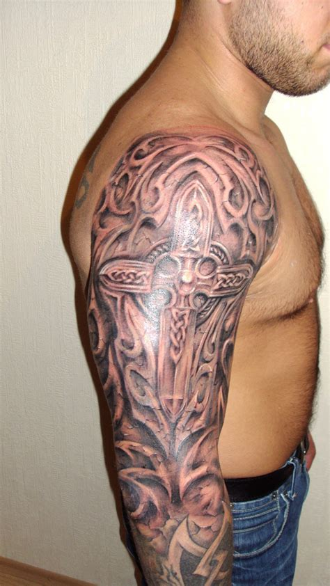 nice halfsleeve celtic tattoo for men tattooshunt com