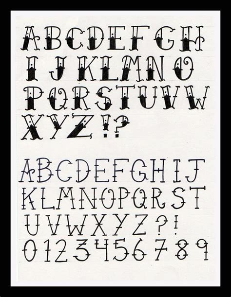 Tattoo Font Search | old tattoo font google search leather projects