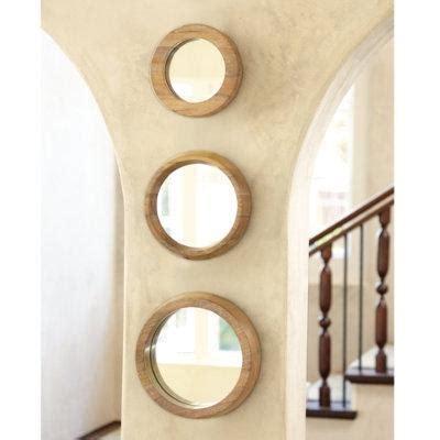 Ballard Designs Bedding set of 3 round wood mirrors ballard designs