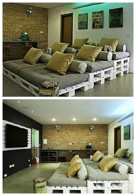 pallets home theater seating  pallets