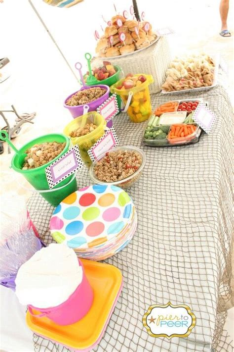 party themes and food beach theme party food kelly shower pinterest