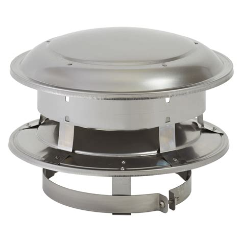 fireplace cap shop supervent 6 in w x 5 in l stainless steel chimney cap at lowes