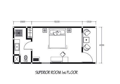Typical Hotel Room Floor Plan by Amadea Resort Amp Villas Room Types