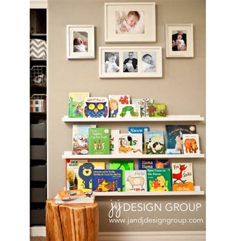 baby boy nursery reading nook book shelves