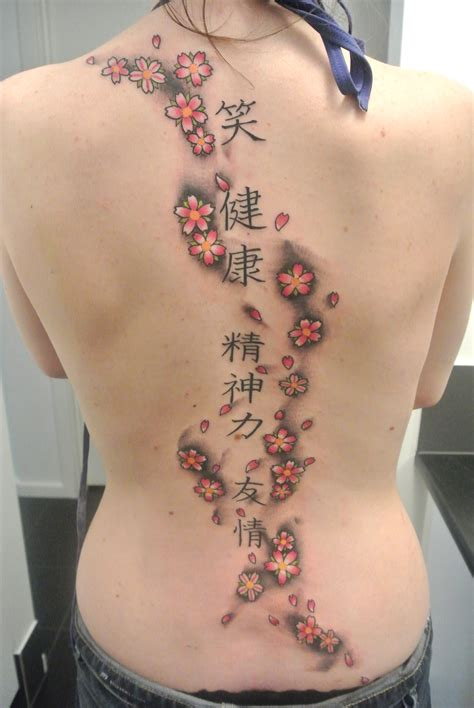 cherry blossom back tattoo lou shaw certified artist