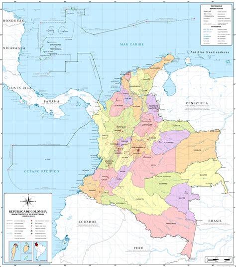 los limites de la mapa de colombia y sus limites