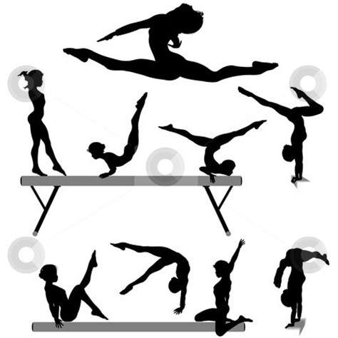 printable gymnastics stencils free printable gymnastic silhouettes to use this stock