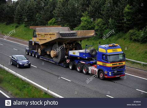 volvo heavy haulage trucks for sale banks volvo fh heavy haulage truck carrying a giant dump
