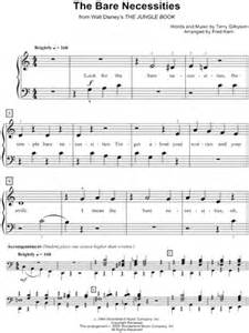 printable lyrics bare necessities download digital sheet music of terry gilkyson for